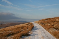 We had a stunning day for the winter ascent of Cross Fell.