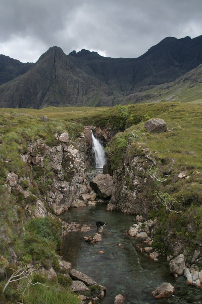 photo of Lenny at the Fairy Pools